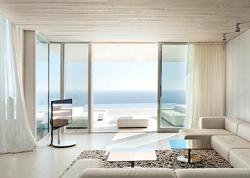 панорамные окна алюм применение